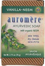 Auromere Vanilla Neem Soap for Aging Skin